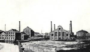 Blick auf das erste neue Gaswerk Leipzig um 1895