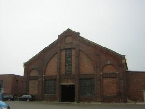 Werkstätten und Lager im Betriebsgelände Roscherstraße/Berliner Straße (heute KWL)