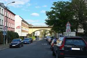 Überquerung der Friedrich-Bosse-Straße